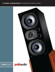 LSi Catalog English - Polk Audio