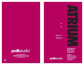 55 Owner's Manual - Polk Audio