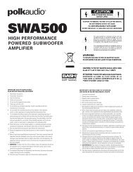SWA500 - Polk Audio