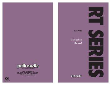 Instruction Manual - Polk Audio