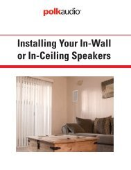 Installing Your In-Wall Or In-Ceiling Speakers – Polk Audio - Best Buy