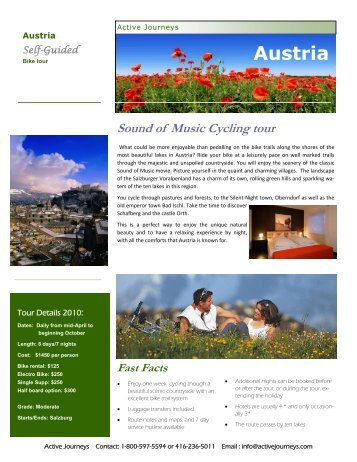 Sound of Music Cycling tour - Active Journeys