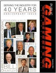 Public Gaming Magazine September 2011 - Pollard Banknote