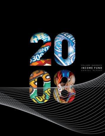 2008 Annual Report - Pollard Banknote