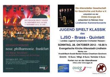 LJSO - Brass - Quintett - Altenstädter Gesellschaft für Geschichte ...