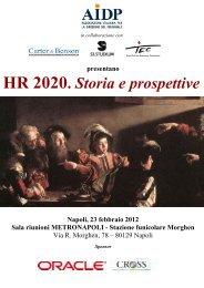 presentano HR 2020. Storia e prospettive Napoli, 23 febbraio ... - Aidp