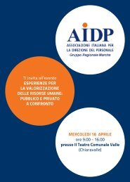 Programma evento - Aidp