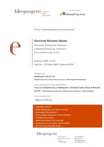 GESTIONE RISORSE UMANE - Aidp