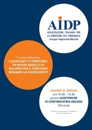 Ti invita all'evento FLEXSECURITY E TERRITORIO: UN ... - Aidp
