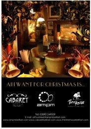 Christmas 2013 Brochure - Cabaret Supper Club