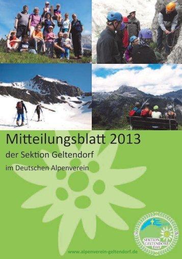 DAV Geltendorf Mitteilungsblatt 2013