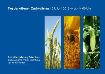 Tag der offenen Zuchtgärten - Getreidezüchtung Peter Kunz