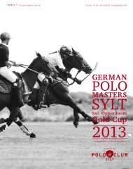 Gold Cup - Polo+10 Das Polo-Magazin