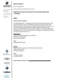 24.08.2010 Spielbericht 1. Spieltag - Polo Park Zürich AG