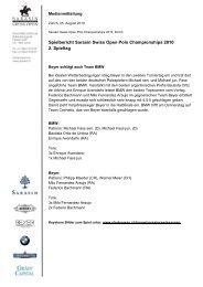 25.08.2010 Spielbericht 2. Spieltag - Polo Park Zürich AG