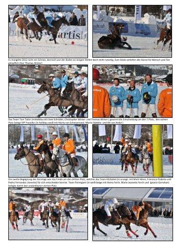 Es mangelte 2012 nicht am Schnee, dennoch ... - bei polowelt.com
