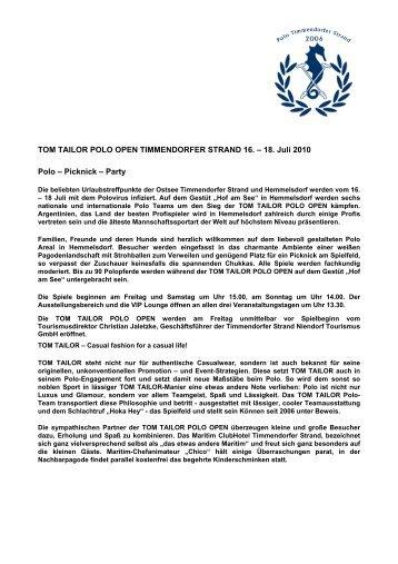 TOM TAILOR POLO OPEN TIMMENDORFER ... - bei polowelt.com