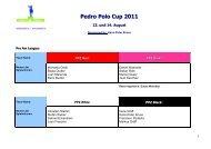 Pedro Polo Cup 201_Programm