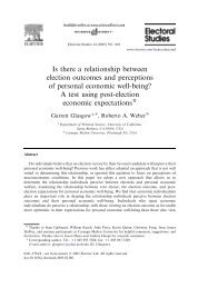 Is there a relationship between election outcomes and perceptions ...