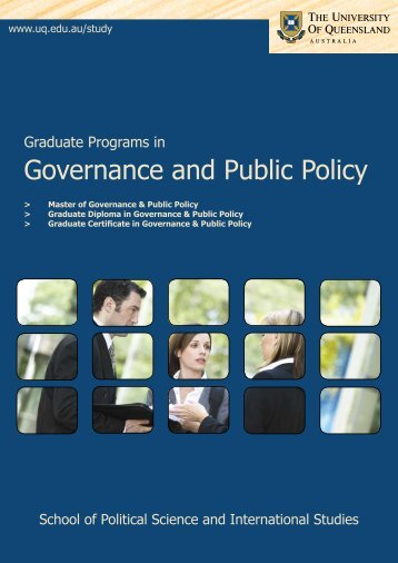 Governance and Public Policy - School of Political Science and ...