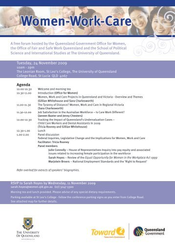 Women - Work - Care - School of Political Science and International ...
