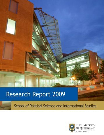 Research Report 2009 - School of Political Science and ...