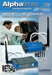 LINKSYS WET11 és WET54G hálózati híd - Alphasonic
