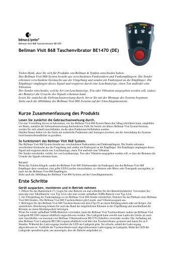 Bellman Visit 868 Taschenvibrator BE1470 (DE) Kurze - Aktivwelt