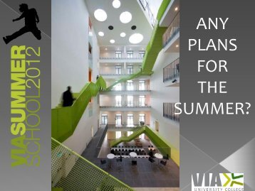ANY PLANS FOR THE SUMMER? - Northumbria University
