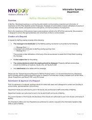 MyPoly Posting Policy - Polytechnic University