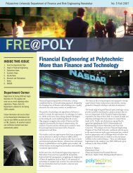 Financial Engineering at Polytechnic: More than Finance and ...