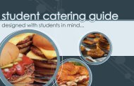 Download the Student Catering Guide
