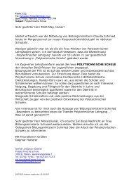 Stellungnahme zur Aussage von BM Schmied - Verein Poly aktiv