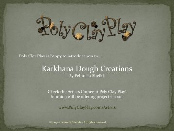 Karkhana Dough Creations - Poly Clay Play