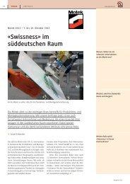 «Swissness» im süddeutschen Raum - polydrive