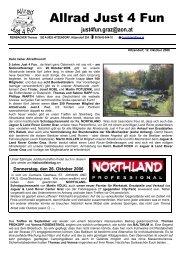 Jaguar & Land Rover Center Graz - Allradrunde Just 4 Fun