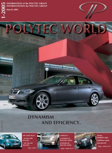 DYNAMISM AND EFFICIENCY. - polytec