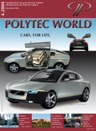 CARS. FOR LIFE. - polytec