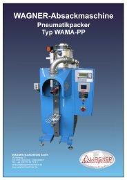 WAGNER-Absackmaschine Pneumatikpacker Typ WAMA-PP