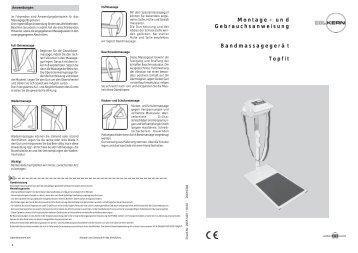 M ontage - und G ebrauchsanweisung B ... - Dr. Kern GmbH