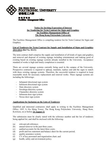 Notice for Inviting Expression of Interest for Tendering for Term ...