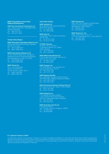 Flexible Polyurethane Foam - BASF Polyurethanes Asia Pacific