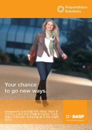Your chance to go new ways. - BASF Polyurethanes Asia Pacific