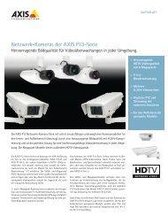 Netzwerk-Kameras der AXIS P13-Serie - DEKOM Video Security ...