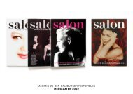 Mediadaten salon Salzburger Festspiele 2012 - Kulturverlag Polzer ...