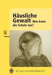 Häusliche Gewalt – Was kann die Schule tun? - Polizei - Kanton Bern