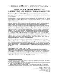 CMBC: VBAC Guidelines - Pomegranate Community Midwives