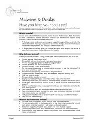 Contemporary Report - Pomegranate Community Midwives