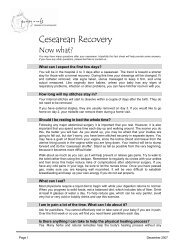 Cesarean Recovery - Pomegranate Community Midwives
