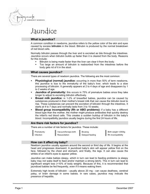 Jaundice - Pomegranate Community Midwives